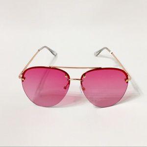 Accessories - Pink Aviator sunglasses.  NWOT